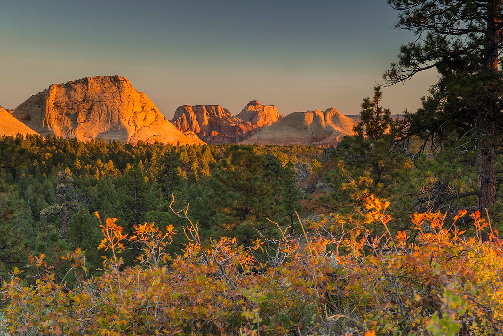 Sunset, Zion back country, Zion National Park, Utah