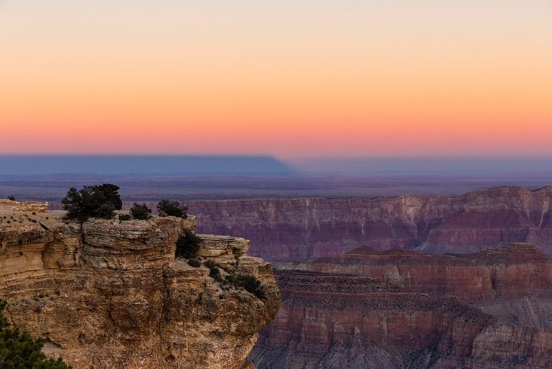 Plateau Shadow, Sunset, North Rim, Grand Canyon National Park, Arizona