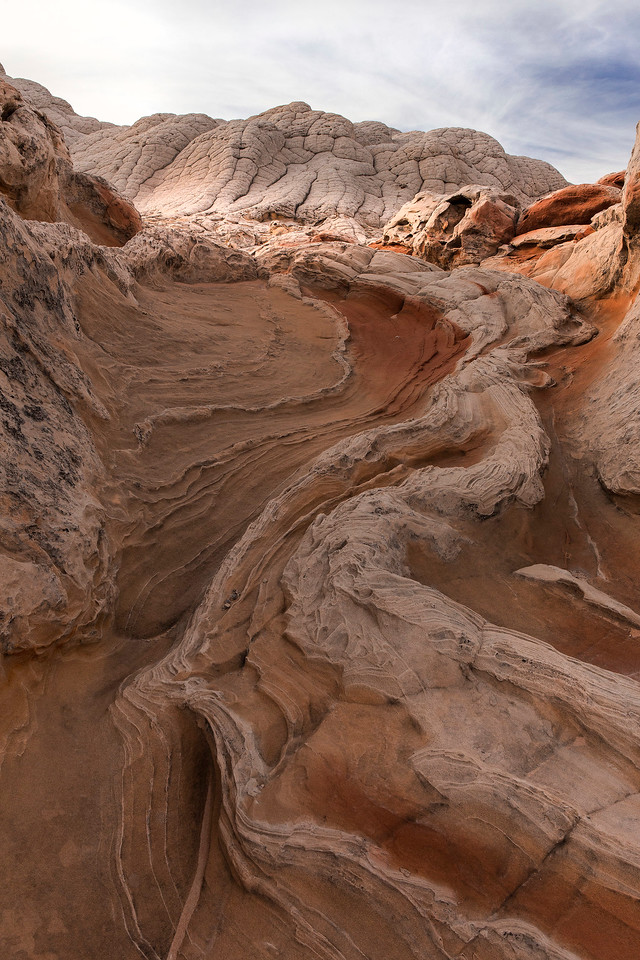 Later afternoon light, rock formations, White Pocket, Vermillion Cliffs National Monument, Arizona