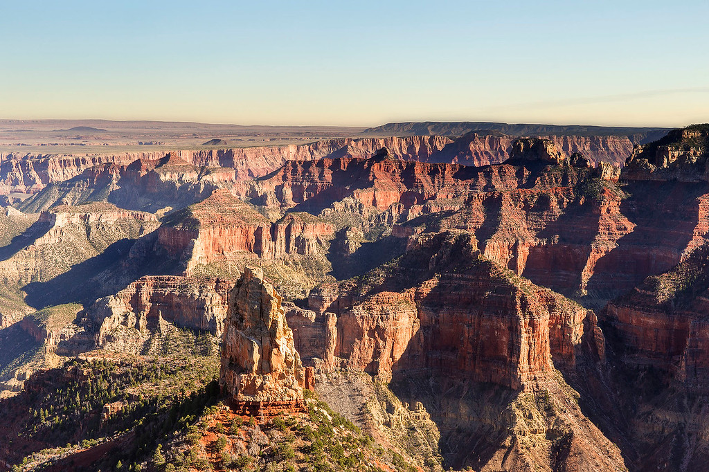 Afternoon, Roosevelt Point, North Rim, Grand Canyon National Park, Arizona