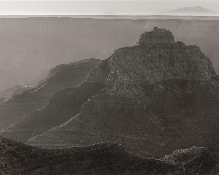 Sunrise in B&W, Cape Royal, North Rim, Grand Canyon National Park, Arizona