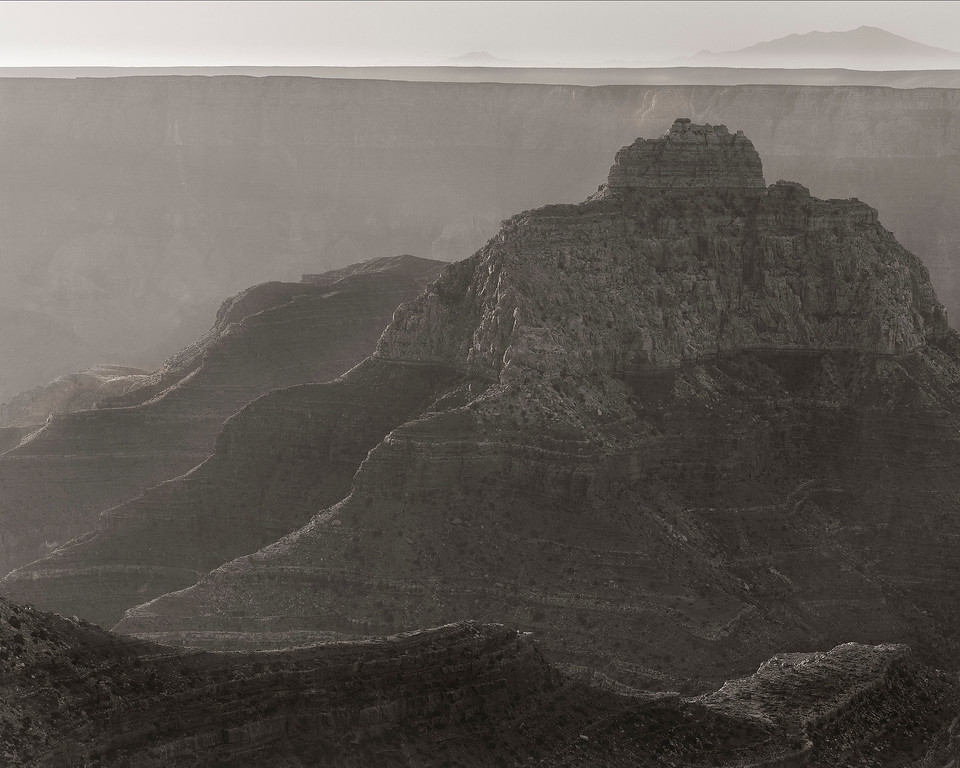 Sunrise in B&W, Cape Royal, North Rim, Grand Canyon National Park, Arizona