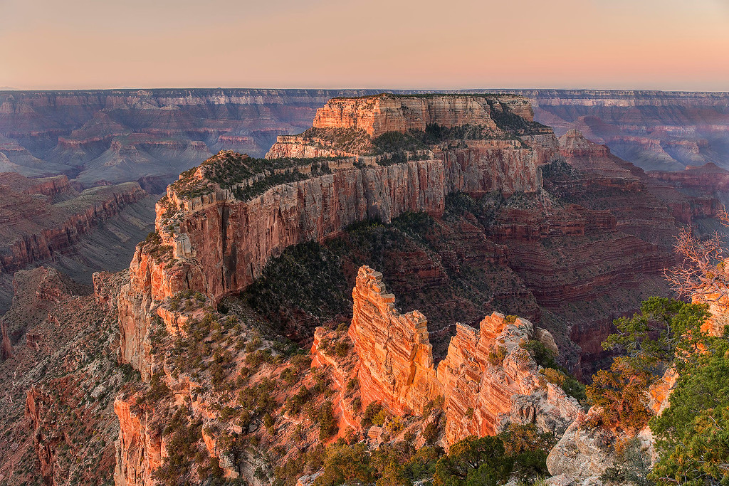 Sunrise, Cape Royal, North Rim, Grand Canyon National Park, Arizona