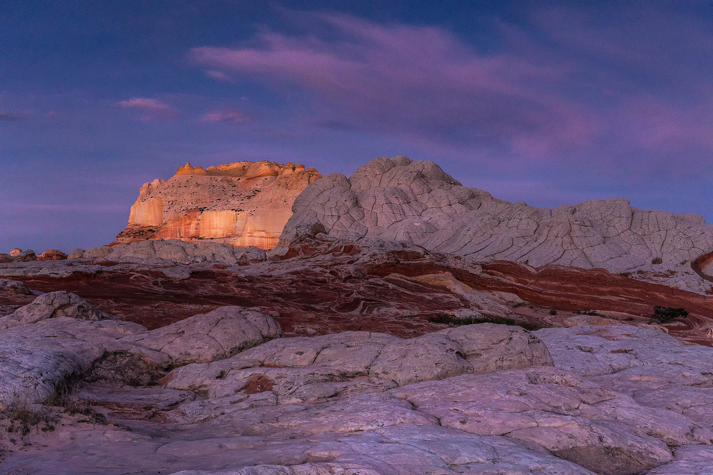 Pre dawn glow on White Pocket Butte, White Pocket, Vermillion Cliffs National Monument, Arizona