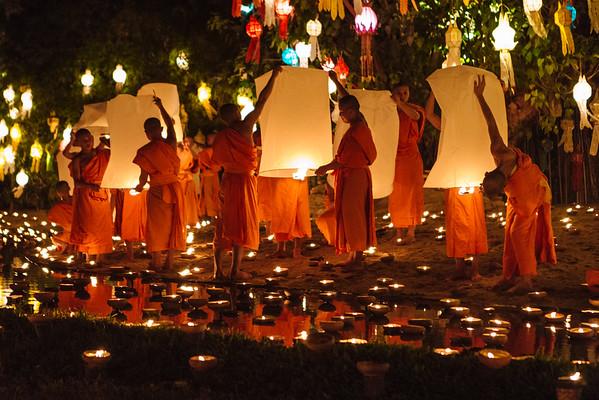 Wat Pahn Tao - Loy Krathong