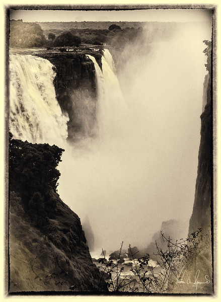"""VICTORIA FALLS GORGE IN THE MIST"""