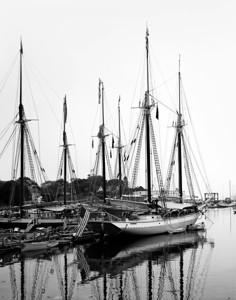 Sailboats Camden Maine Harbor