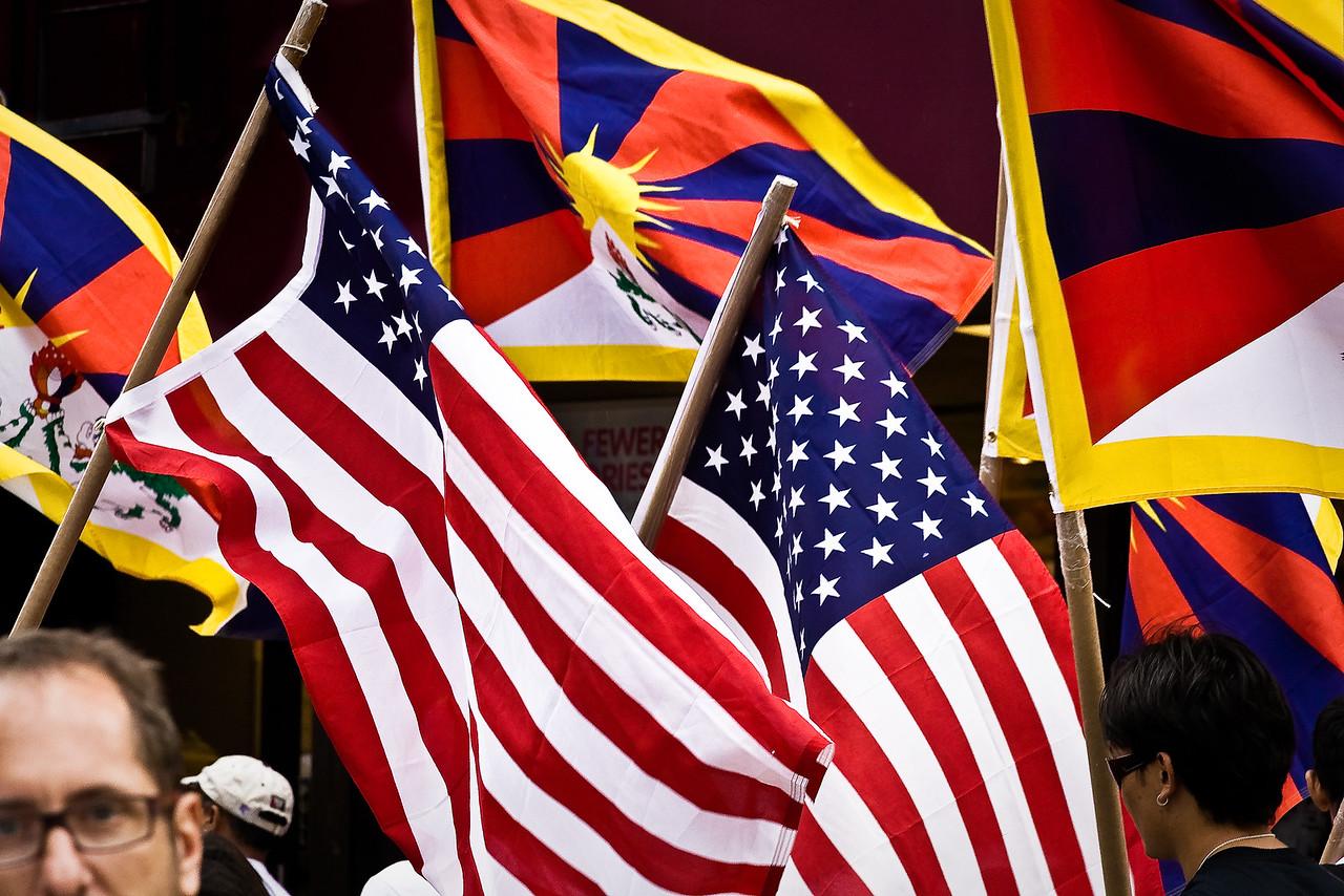 Free Tibet Rally Flags