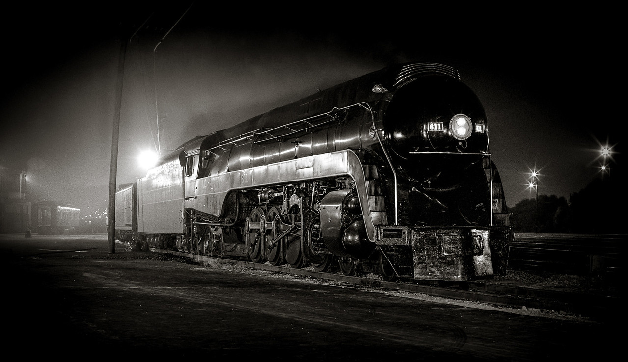 Night Photo of NW Engine 611