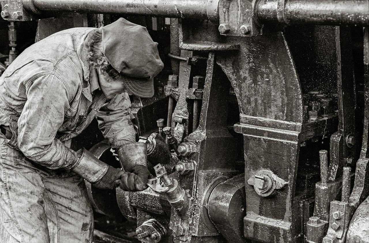 Working on a Steam Engine