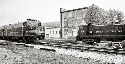 Two Old Diesel Railroad Engines