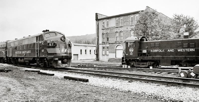 Two Old Diesel Railroad Engines