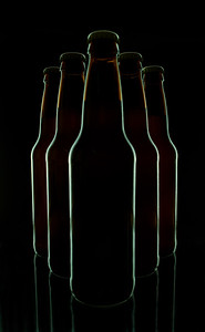 Beer Bottles on Black