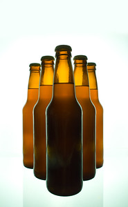 Beer Bottles on White