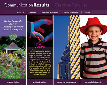 Former website design for Communication Results