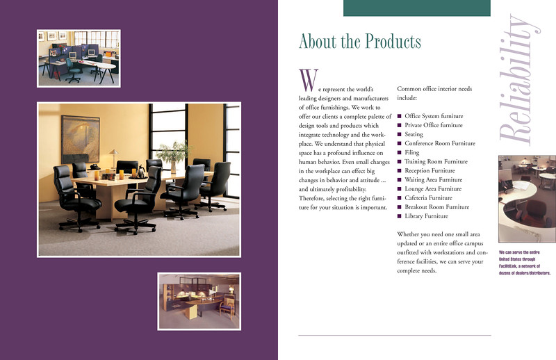 Brochure design for a furniture company.