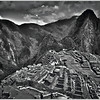 """""""MACHU PICCHU"""" - IN BLACK AND WHITE (HDR) IN THE ANDES MOUNTAINS OF PERU"""