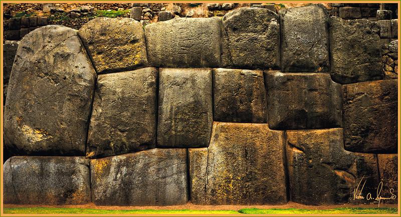 """A MASSIVE STONE WALL"" - AT THE INCA FORTRESS OF SACSAYHUAMAN, NEAR CUZCO, PERU ON NOVEMBER 18, 2011"