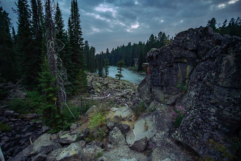 Henrys Fork of the Snake River at its confluence with the Buffalo River, Targhee National Forest, Idaho