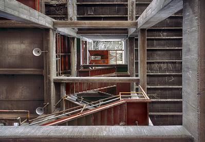 Stairwell, Laramie, WY 2014 HDR image © Edward D Sherline