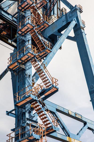 Crane segment in Port Authority on the East coast