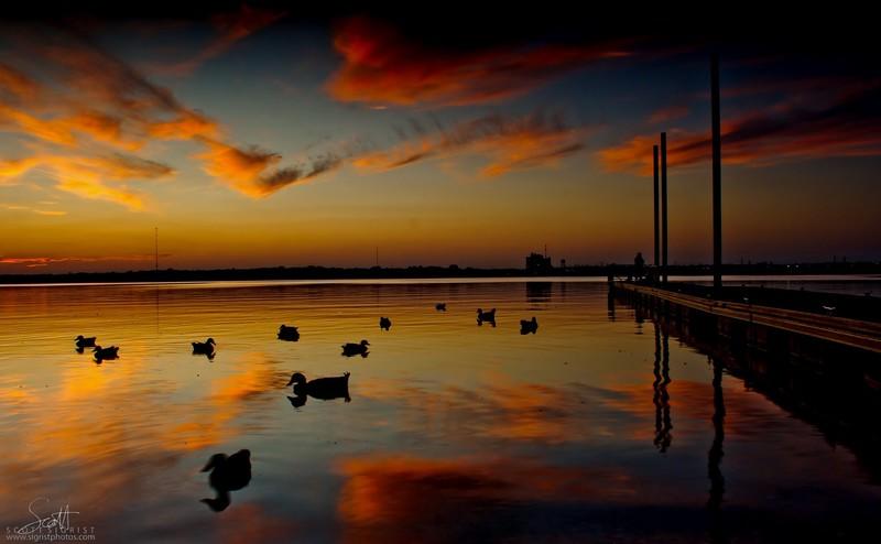 Lake Arlington at Sunset