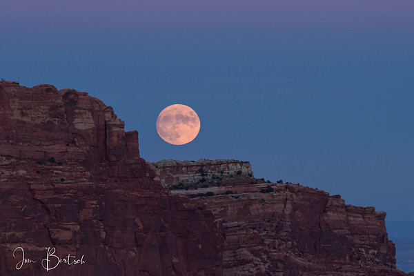 Full moon rising over Capital Reef
