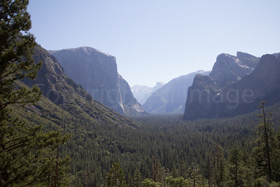 Morning view of Yosemite valley