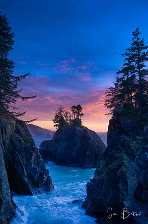 Spruce island sunset