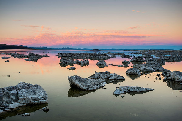 Pink over Mono Lake