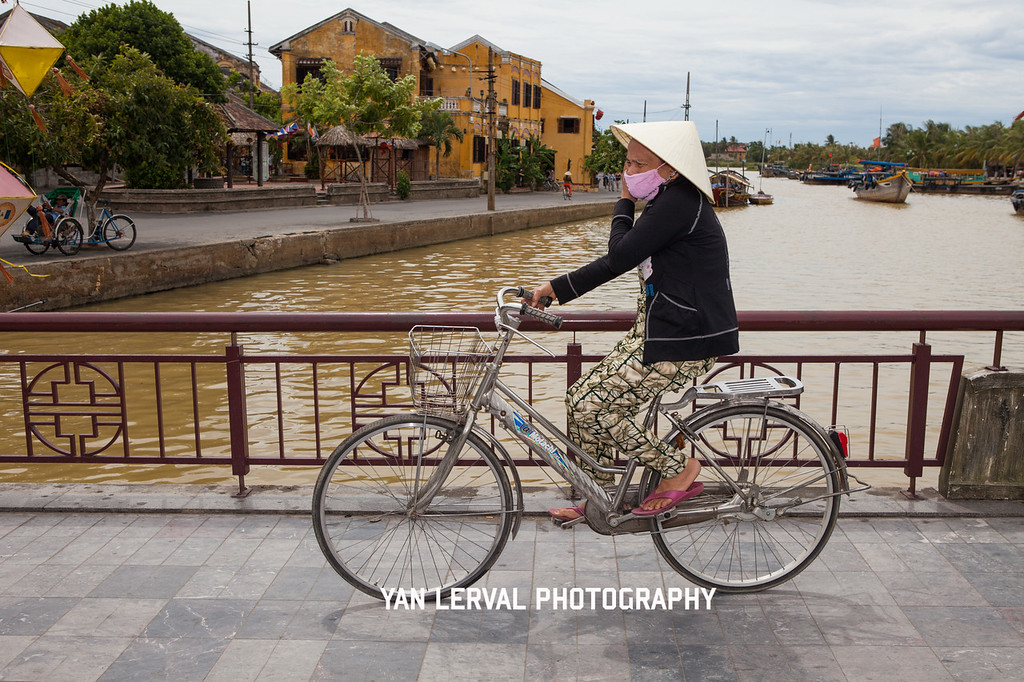 Riding bicycle in Hoi An, Vietnam