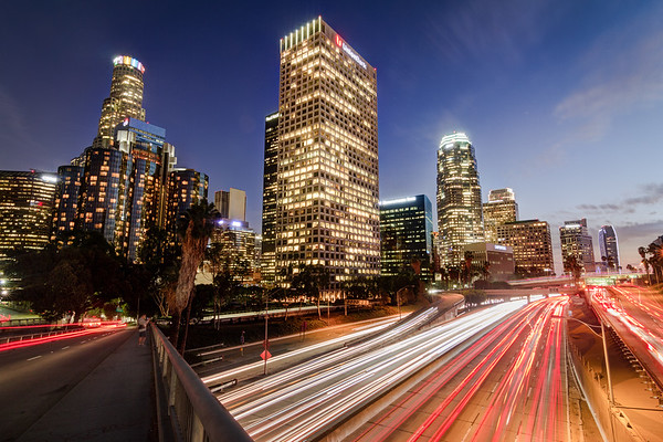 Downtown Freeway at Night