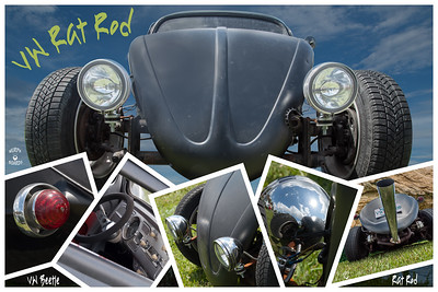 Black VW Beetle Rat Rod