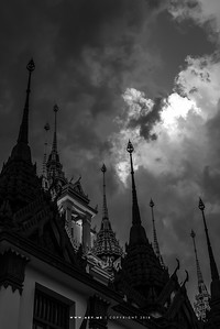 Cloudy day at Loha Prasat, Wat Ratchanadda