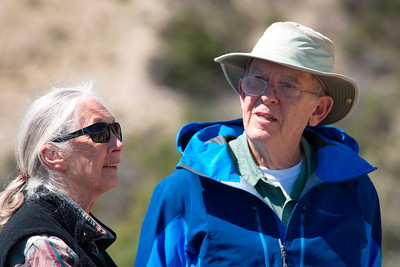 Jane Goodall and Roger Payne In Patagonia Argentina