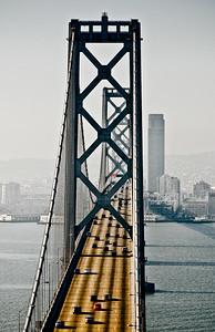 Bay Bridge Suspension Span - Treasure Island, San Francisco, CA