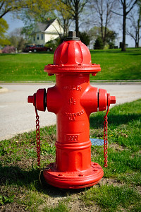 Red Fire Hydrant from Alabama at the Hoover Library, West Branch, Iowa