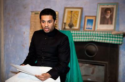 Ali Khan reading a Marsiya at a majlis in Lucknow.