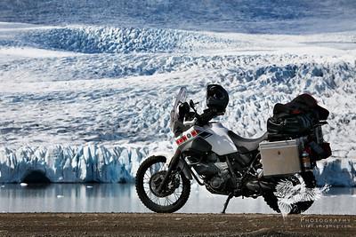 Yamaha and glacier