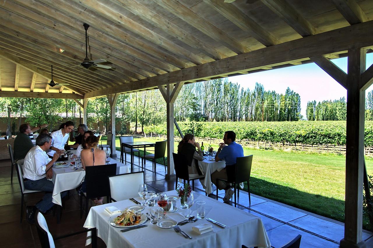 Restaurante gourmet junta a las viñas, Mendoza, Argentina