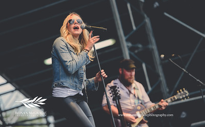 American singer Logan Brill on the main stage at Harvest Country Music Festival, Enniskillen.    Picture: Ronan McGrade