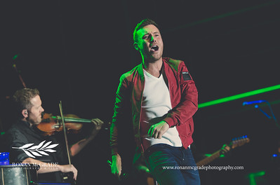 Nathan Carter and his band headlined Harvest Country Music Festival at Enniskillen Airport.    Picture: Ronan McGrade