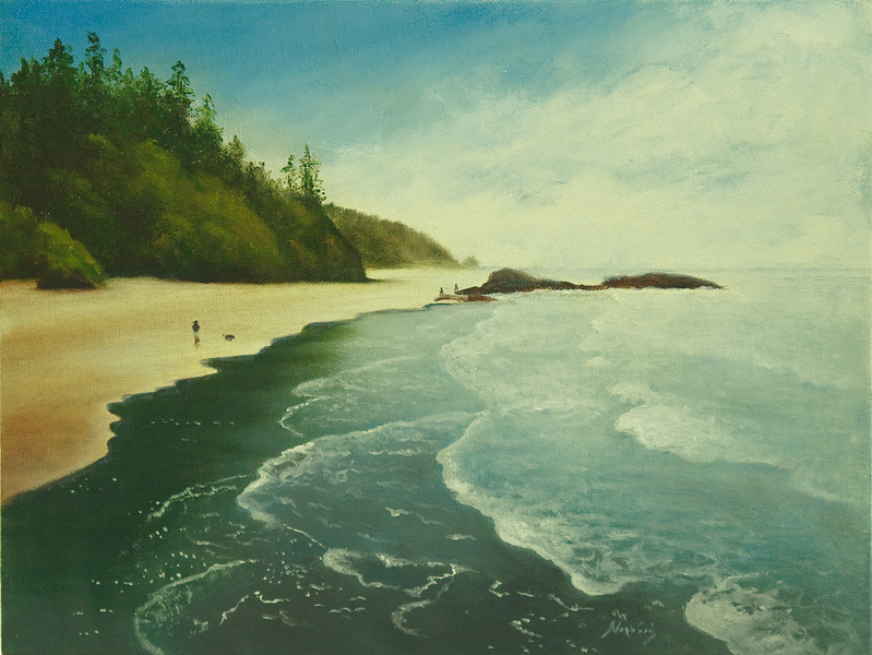 Strolling Ruby Beach<br /> 12 x 16<br /> Gallery wrap