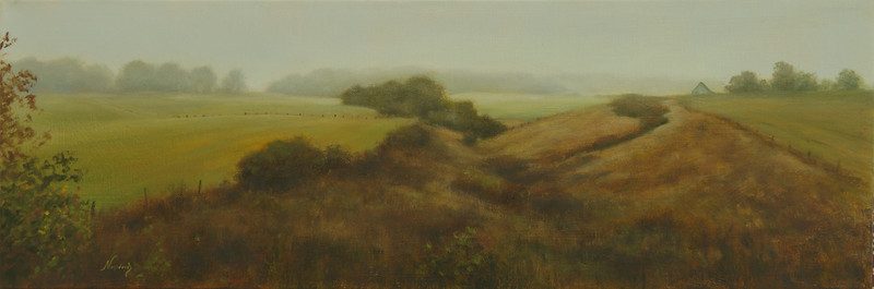 Morning Mist on 26<br /> 8 x 24<br /> Gallery wrap
