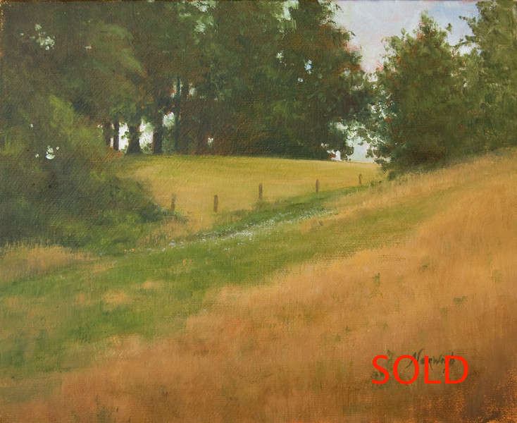 Cape Horn Road<br /> 8x10 <br /> Oil on canvas<br /> (Sold)