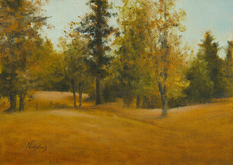Pettit's Pasture<br /> 5x7 <br /> Oil on canvas panel