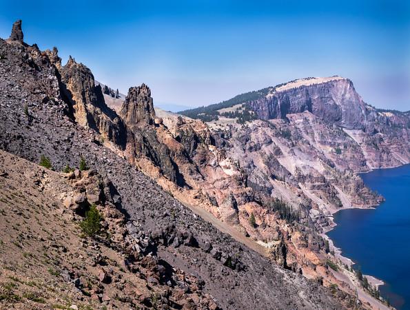 Amazing Geology At Crater Lake