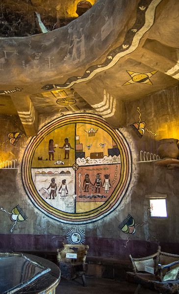 Inside Desert Watchtower