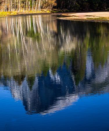 Half Dome Impressionistic Reflection