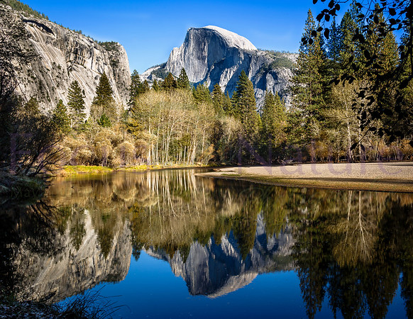Half Dome Reflection-Wide